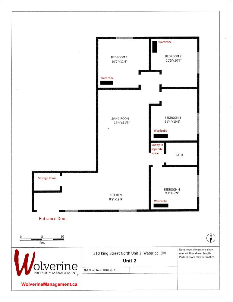 Floor Plans Waterloo | Floor Plan 310n Wolverine Property Management Floor Plans For