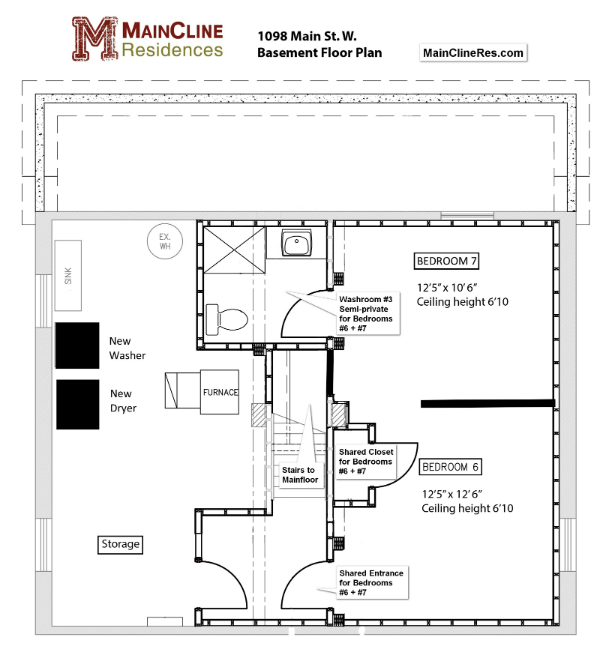 1098 Main St W - Lower Floor plan