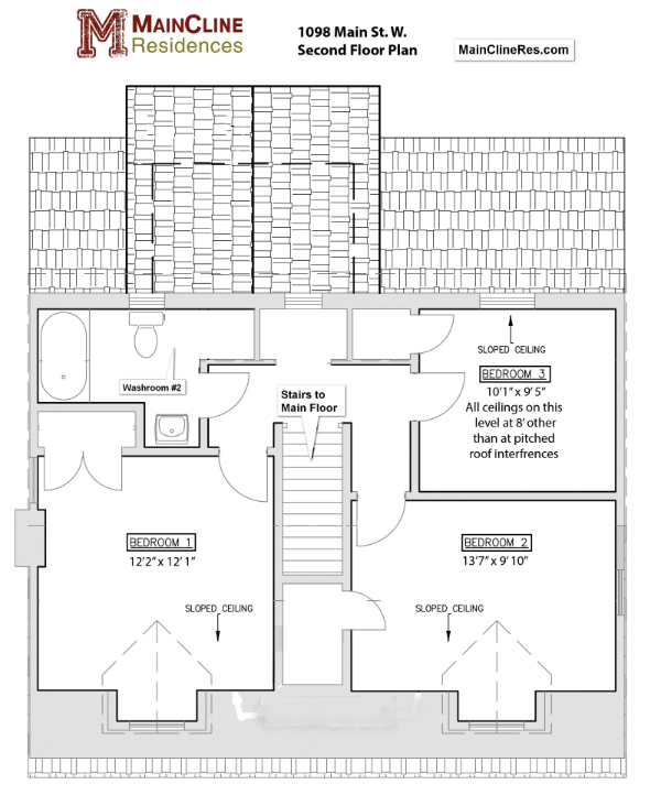 1098 Main St W - Upper Floor#3 plan