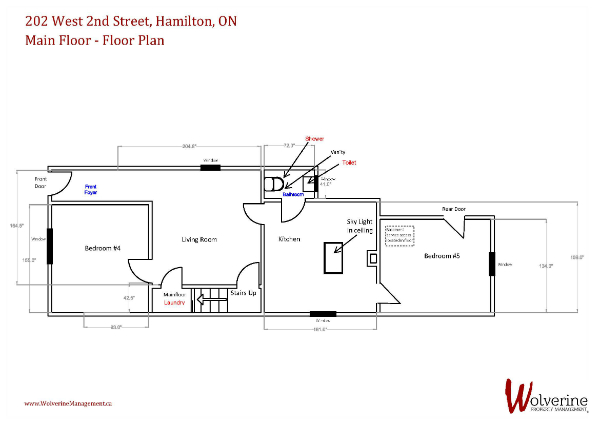 202 West 2nd St, Hamilton-Main Floor plan